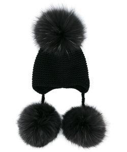 Inverni | Multi-Fur Pom Pom Beanie