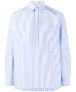 Martine Rose   Logo Embroide Striped Shirt