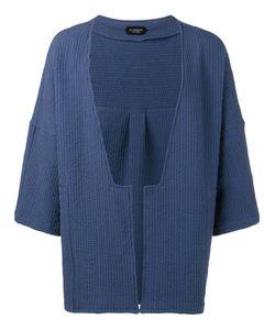 Curieux   Textured Stripe Kimono Jacket