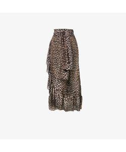 Ganni | Peirce Mesh Leopard Print Skirt