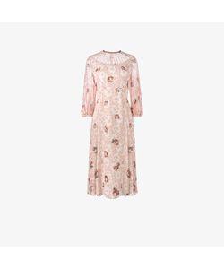 Vilshenko   Georgette Pleated Print Dress