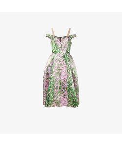 Natasha Zinko | Print Lace Off-Shoulder Dress