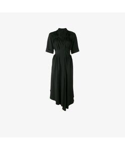 Adam Lippes | Asymmetric Gathered Midi Dress