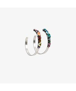 Dannijo | Rainbow Hoop Earrings