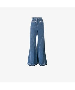 Esteban Cortazar   High Waisted Fla Jeans