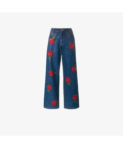 Ashish   Rose Embroidered Sequin Jeans