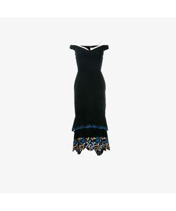 Peter Pilotto   Off-Shoulder Embroidered Dress