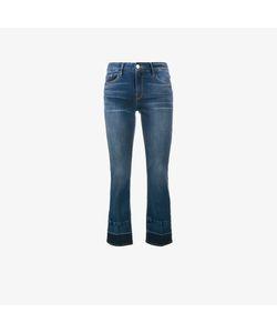 Frame Denim | Cropped Contrast-Hem Jeans