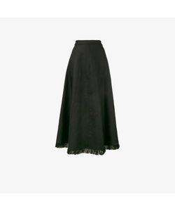 Barbara Casasola | Frayed A-Line Maxi Skirt