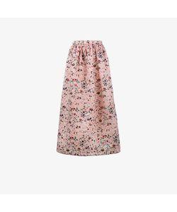 Huishan Zhang   Embroidered Soft Pleated Skirt