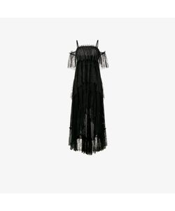 Philosophy di Lorenzo Serafini | Off-Shoulder Lace Tiered Dress