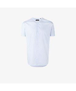 Curieux   Stripe Collarless Shirt