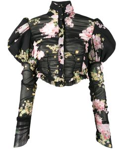 Alessandra Rich | Print Puffy Sleeve Blouse