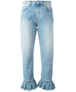 MSGM | Ruffle-Trimmed Cropped Jeans