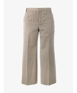 Balenciaga   Houndstooth Cropped Trousers