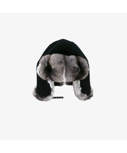 Inverni   Chinchilla Fur-Lined Trapper Hat