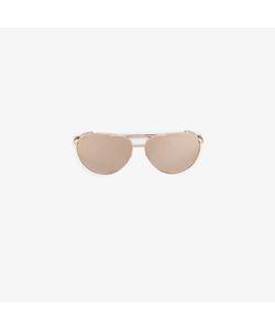 Linda Farrow | Plated Mirrored Aviator Sunglasses