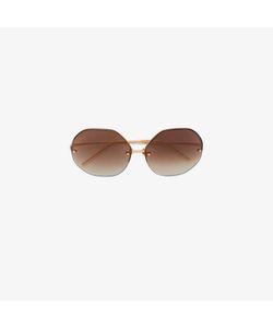 Linda Farrow | Oversized Hexagonal Sunglasses