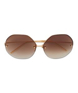 Linda Farrow | Oversized Hexagonal Sunglasses