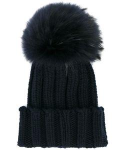 Inverni | Fox Fur Pom Pom Beanie