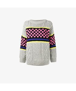 Ashley Williams | Chunky Checkerboard Knitted Jumper