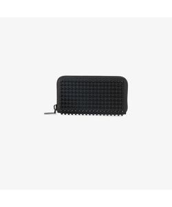 CHRISTIAN LOUBOUTIN | Spike Embellished Large Leather Zip Wallet