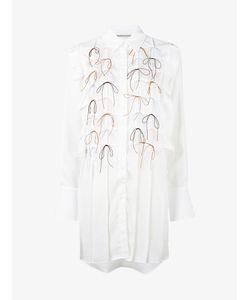 Marco de Vincenzo   Pleated Bow Shirt Dress