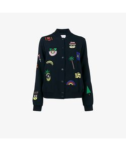 Mira Mikati | Patch Embroidered Bomber Jacket With Minions