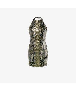 Balmain | Python-Effect Sequinned Halter Neck Dress