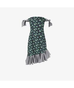 House Of Holland | Print Gingham Off-Shoulder Dress