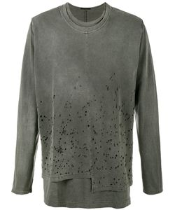 The Viridi-Anne | Distressed Long Sleeve T-Shirt