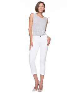 Goldsign | Jenny High Rise Slim Leg In White