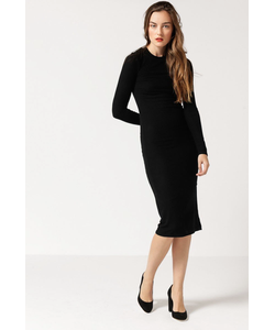 Getting Back To Square One | The Sweater Dress In Black