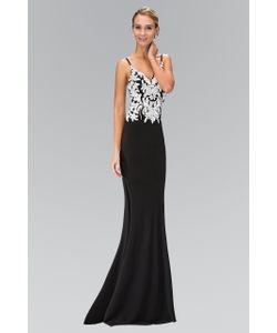 Elizabeth K | Bead And Sequin Embellishment V-Neck Gown Gl1384