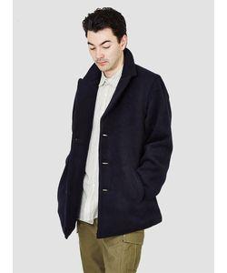 Kapital   Django Melton Wool Peacoat Navy Menswear