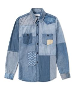 Fdmtl | Boro Indigo Shirt