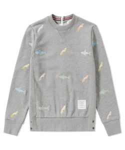 Thom Browne | Embroidered Shark Surfboard Crew Sweat