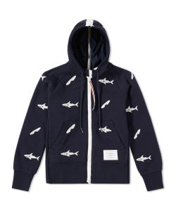 Thom Browne | Embroidered Shark Surfboard Hoody