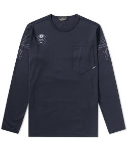 Stone Island Shadow Project | Long Sleeve Garment Dyed Graphic Tee