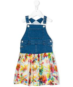 Jean Paul Gaultier | Denim And Chiffon Dungaree Mini Me Dress