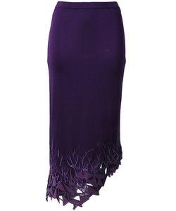 Thierry Mugler Vintage | Lambskin Appliqué Skirt Size Large