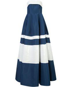 Carolina Herrera | Sequinned Stripes Strapless Gown Size 8