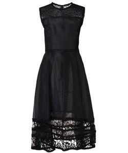 Jason Wu | Lace Panelled Fla Dress Medium Viscose