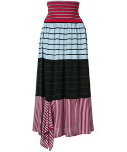 Sonia Rykiel | Striped A-Line Skirt Medium Silk/Cotton