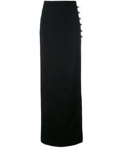 David Koma | Buttoned Side Slit Skirt