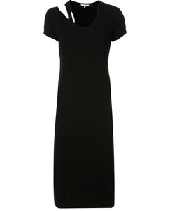 Helmut Lang   Slit Shoulder T-Shirt Dress Women