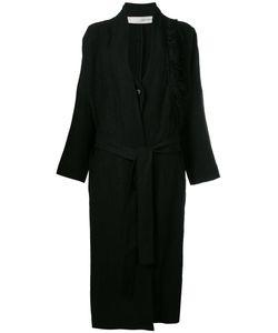Isabel Benenato | Fringed Shoulder Detail Coat
