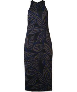 Jason Wu | Patterned Sleeveless Midi Dress 10 Viscose