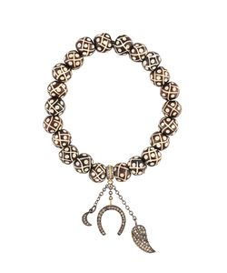 Loree Rodkin | Carved Beaded Diamond Charm Bracelet