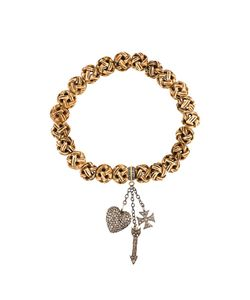 Loree Rodkin | Carved Beads Diamond Charm Bracelet
